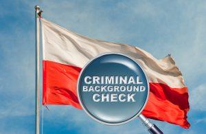 Несудимость - лупа и флаг Польши